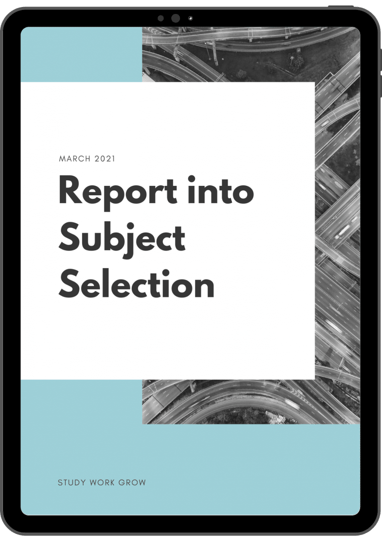 Report into Subject Selection
