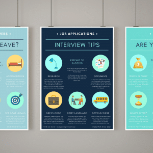 Career Poster Pack | Study Work Grow