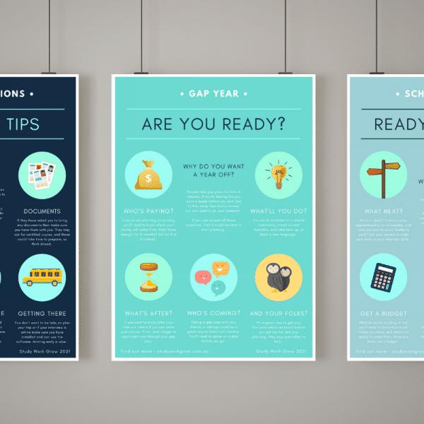 Career Poster Pack | Study Work Grow